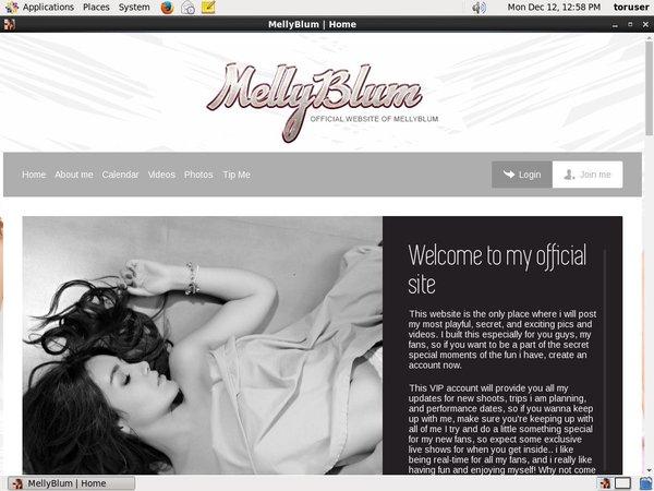 Mellyblum.com Account 2015