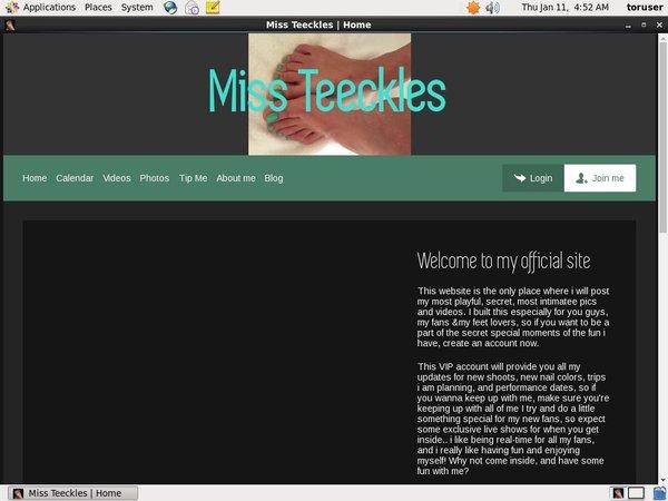 Miss Teeckles パスワード